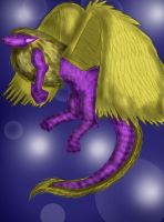 Winged dragon dog thing by Kittycatrat