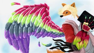 Ankh (furry ver) in Kamen Rider OOO by Draconica5