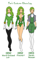 Fire's Costume Chronology Pt 3 by Femmes-Fatales