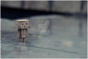 Danbo is all wet..weeee by i-Cube
