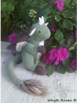 Green Dragon Critter Looking for a new home by Whyte-Raven