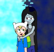Finn and Marceline by NatThePopcornFairy