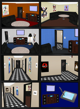 Karaoke Room + Hallway Models - for ComiPo! by Metalraptor