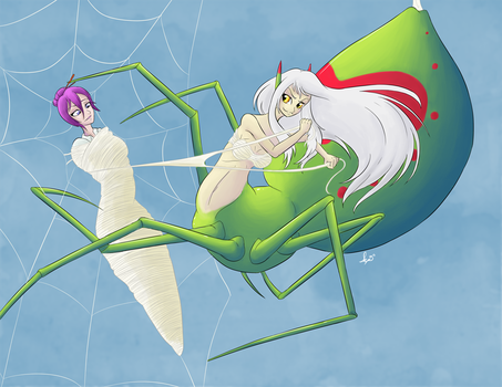 Commission: Spider's Web by SepiSnake