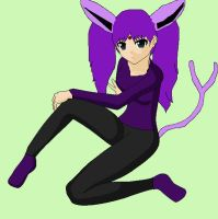 Older Melody as Espeon Gijinka by BigAssFamily