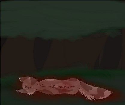 Thistleclaws death by Wendexdraws