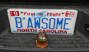 Bawesome Licence Plate by SoarinPie