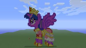 MLP Alicorn Twilight in Minecraft by o0rolyat0o