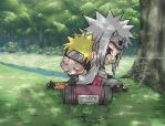 Jiraiya and Naruto Memories by DigitalYuki