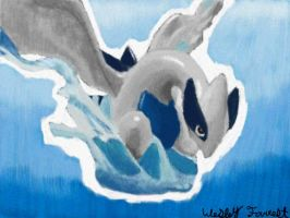 Lugia Painting by WaffleFox