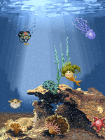 Underwater pixel world by GemDeDude