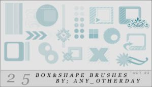 25 Box and Shape Brushes by lostinsidethecrowd