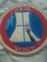 Finished Fear Scout badge by OraTexLadi