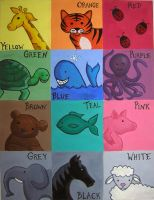 Learning Colors with Animals by DigitalParanoia