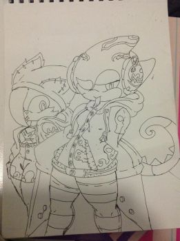 SonicOCs:meu and fu-il not colored by ELSWORDtheKnight123
