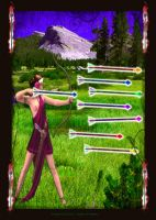 Eight of Wands by 1purplepixie