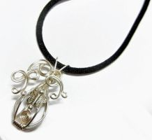 Fundraiser - Caged Butterfly Wire Wrap Pendant by Create-A-Pendant