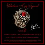 Blue Rose Creations 2015 Valentines Day 15% Off by LadyPirotessa