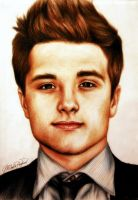 Josh Hutcherson Colour Portrait by MichellyMe