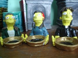 Simpsons tealight holder comm. by Whitey594
