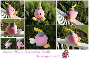 Paper Mario Bombette Plush *SOLD* by DogerCraft