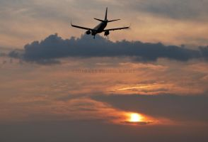Airliner at Sunset by GTX-Media