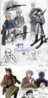 APH-FINLAND:Winter War Sketches by chorsahgryphon