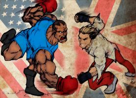 Balrog Vs Steve Fox by Rapha-Leite