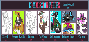Commission Prices update by HauntedHomo