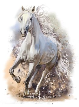 White horse by Kajenna