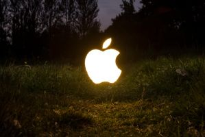 Apple Logo (Long Exposure) 2 by adamjamescooper