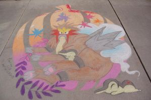 Fall Pokemon Chalk by Kyuujutsuka