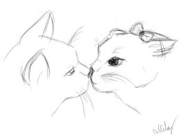scetch_couple_cats by MilaHaulitz