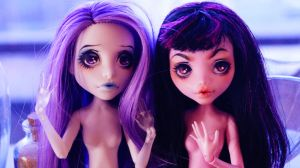 Monster High Spectra and Draculaura OOAK by Callisto-secondary