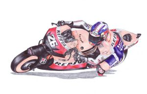 Ballpoint Pen, 26, Dani Pedrosa by onecuriouschip