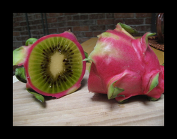 Dragon Kiwi fruit by amaya-chibi