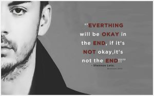 Shannon Leto Quote Wallpaper by lovelives4ever