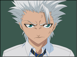 Hitsugaya Toushirou at school by Darrajunior