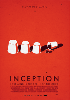 Inception, poster by dioxyde
