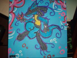 Lucario Beast of Aura by HoneyHeartStudios
