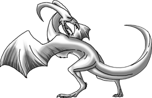 Dragon Back Wing Pose by Annatiger1234