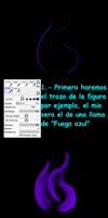 *~Tutorial 1~* Efecto FUEGO AZUL by FanaliShiro