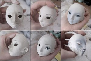 Mystic Dolls BJD Project - 1st try at doll making by x-EGLANTINE-x