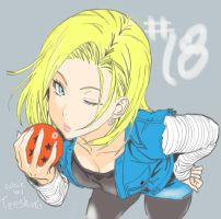 Android 18 by tenshinta