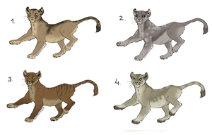 Lion cub adoptables [Closed] by watermella