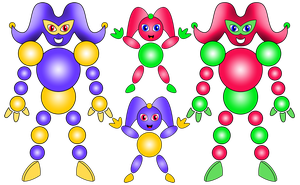 Fakemon - Circlown and Jestertain by imadmagician