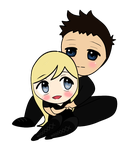 CHIBI Four and Tris by echosong001