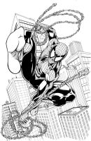 Spider-Man pinup inks by seanforney
