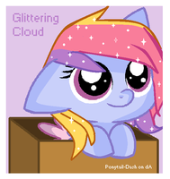 Filly Glittering Cloud in a box by Ponytail-Dash