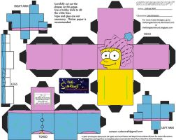 X-Mas16.5: Lisa Simpson Cubee by TheFlyingDachshund